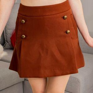 1970's inspired Brown Skirt